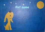 Handpainted pet food mats